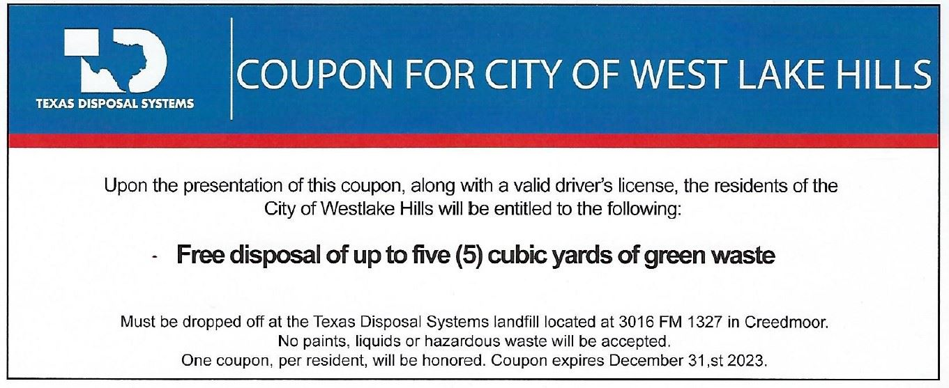 coupon for bulk waste